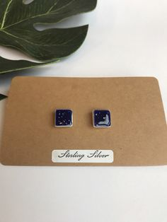 A personal favourite from my Etsy shop https://www.etsy.com/uk/listing/511408539/royal-blue-speckled-square-stud-earrings