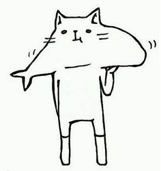 cat fish #design #illustration