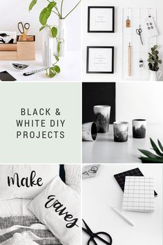 Get creative with these black & white DIY projects from some of the most creative makers on the internet! Plus, more of the best things…