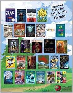 2016 list of great summer reads for 5th and 6th graders, selected by Teacher Librarians in the Iowa City Community School District. See the details here: https://www.goodreads.com/review/list/55732582-iccsd-teacher-librarians?shelf=great-summer-reads-for-5-6-2016