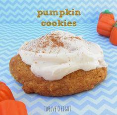 twelveOeight: Pumpkin Cookie Recipe with Cream Cheese Frosting