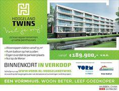 Binnenkort in verkoop: 22 luxe appartementen & 4 ruime penthouses Hoogeland Twins te Naaldwijk. Een project van VORM ontwerp Wubben.Chan architecten  Voor meer informatie: http://ift.tt/1RMNACU  #verkoop #appartementen #naaldwijk #schetsen #ontwerp #BIM #duurzaam #vr #3Dprint #3Dprinting by wubbenchan