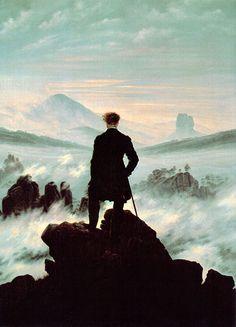 【 霧の海に向かう放浪者 】-Wanderer Above the Sea of Fog-カスパール・ダヴィッド・フリードリッヒ Caspar David Friedrich