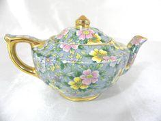 James Sadler Petite Fleur Chintz Small / Miniature Teapot - for 1 cup #TeaPots