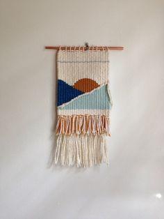 Mini mountain  ocean handmade weaving  wall by SecretCeremonyShop
