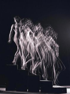 A photographic rendering of Marcel Duchamp's Nude Descending a Staircase No. 2 by Gjon Mili