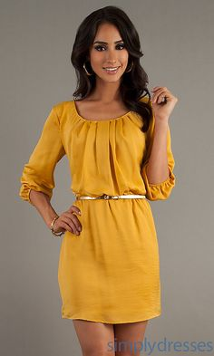Perfect fall dress for the office- can be dressed up with a few accessories
