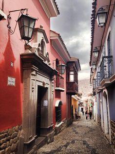 Some beautiful cobblestone streets in Bolivia.
