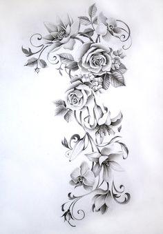 Flower sleeve tattoo by Nevaart.deviantar… on - Diy Flowers - Flower sleeve tattoo by Nevaart.deviantar on Flower sleeve tattoo by Nevaart. Shoulder Tattoos For Women, Sleeve Tattoos For Women, Tattoo Sleeve Designs, Tattoo Designs For Women, Tattoos For Guys, Feminine Shoulder Tattoos, Floral Tattoo Design, Flower Tattoo Designs, Female Tattoos