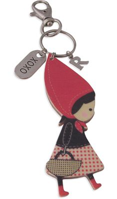 how cute a little red riding hood key chain, i've never seen one of those anywhere around here :-)