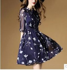 Women Dresses Printing Round Collar Elegant Sexy Slim High Quality Chi – Ozzy Bella All Great Apparel