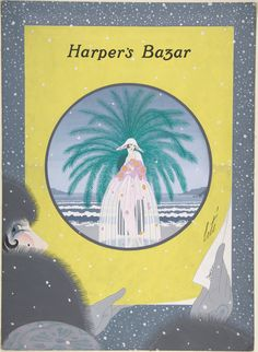 Cover Design for Harper's Bazar, Erté, 1920 Art Deco Illustration, Magazine Illustration, Art Illustrations, Art Nouveau, Erte Art, Romain De Tirtoff, City Gallery, Vintage Magazines, Harpers Bazaar