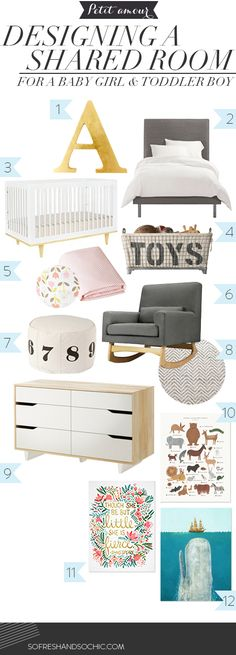 [Petit amour]Designing a Shared Room for a Baby Girl and Toddler Boy