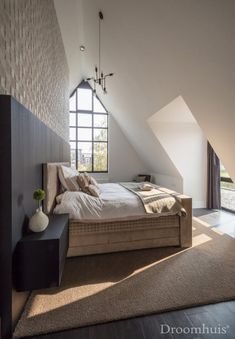 Schuurwoning Hardenberg-36 Dream Bedroom, Home Bedroom, Master Bedroom, Bedroom Decor, Style At Home, Big Bedrooms, New Room, Home Decor Inspiration, Home Fashion
