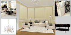 Colored ceilings. The classic interior. Where appropriate white or slightly beige ceiling. Цветные потолки. Классический интерьер. Здесь уместен белый или слегка бежевый цвет потолка.