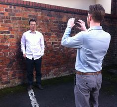 Taking team photos for the website #BehindTheScenes