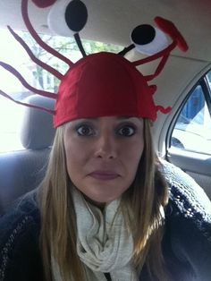 Grace Helbig crab hat