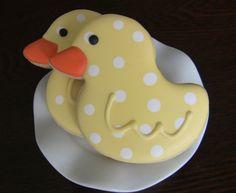 Ducks In A Row Decorated Sugar Cookies via Etsy