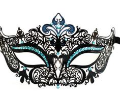 Etsy の Black masquerade mask Laser cut metal by Stefanelbeadwork