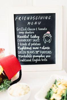 Friendsgiving FRIENDS Themed Thanksgiving Party | Kara's Party Ideas