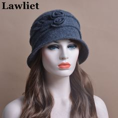 100%Wool Fashion Beret Cap Church Hats  for women Female Bucket Cloche Hats in the life Brand New Thick Female Winter hatT176