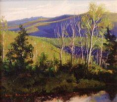 SOLD I Morning Dance I 7x8 I Dix Baines I Fine Artist Original Oil Paintings I Mountains I www.dixbaines.com
