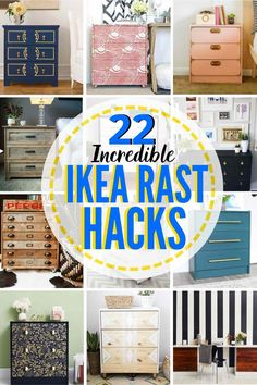 22 Eye-Catching IKEA Rast Hacks! Have an IKEA Rast? Great! There are so many amazing upgrades and changes you can make to make your Rast look totally custom. Check out these 22 incredible ideas to give your Ikea Rast a whole new lease on life! #Ikea #Ikeahack #Ikearast #rast #ikearasthack #hack #ikearastnightstandhack #ikearastdresserhack #ikearastmakeover #ikearastnightstand #ikearastdresser #ikearasthackkids #IkearastDIY #Ikearastdesk #Ikearastcloset #ikearastclosethack