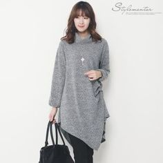 Buy 'Stylementor – Turtle-Neck Asymmetric-Hem Knit Dress' with Free International Shipping at YesStyle.com. Browse and shop for thousands of Asian fashion items from South Korea and more!