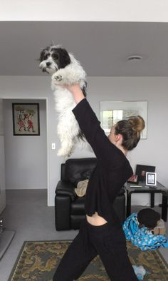 Bella and granddaughter Paige doing the Lion King pose