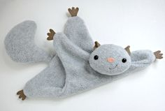 Flying Squirrel Pattern! Add crinkle material to for the cutest toy ever!