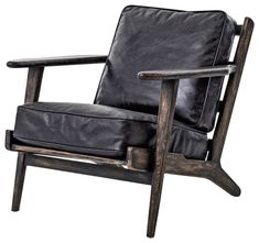 modern armchair rider oak armchair, black leather modern-armchairs-and-accent-chairs jezadcn - Decorating ideas Black Leather Armchair, Leather Lounge, Leather Chairs, Leather Cushions, Leather Accent Chairs, My Living Room, Living Room Chairs, Lounge Chairs, Dining Chairs