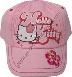 Casquette enfant Hello Kitty rose fille par UnCadeauUnSourire.com