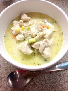 Creamy Chicken Soup! oh yum, I can't wait to try this one! :)