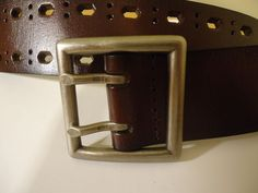 RELIC #RL5019200 BROWN BONDED LEATHER CUT-OUT PERFORATED WOMEN'S BELT SIZE M #Relic
