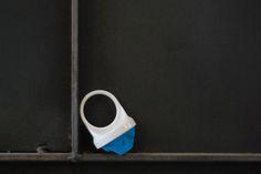 Pigeon grey base - Ocean blue 'Star' top