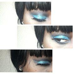 Side blue glittered eye ☄ IG: @beesublimate.mua