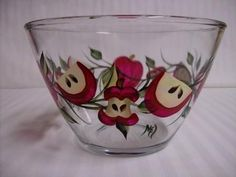 Apples Bowl by Morningglories1 on Etsy $30.00