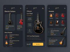 Mobile App for Gibson Guitars / Concept by Vladimir Gubanov