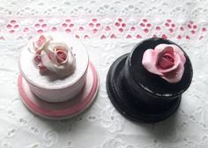 Tiny Trinket Box topped with roses For Sale $9.99 each  #creatingcottage #etsy #gift