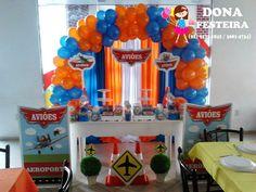 DONA FESTEIRA: DECORAÇÃO PEQUENA - AVIÕES DISNEY Planes Birthday, Cars Birthday Parties, Disney Birthday, Baby Birthday, Birthday Ideas, Disney Planes Party, Airplane Party, Disney Cakes, Birthdays