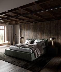 Rustic Bedroom Interior Design projects | Foto's, video's, logo's, illustraties en merknamen op Behance