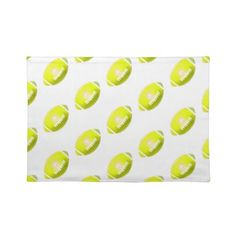 Yellow Football Pattern Place Mat