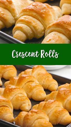 Sweet Dinner Rolls, Homemade Dinner Rolls, Dinner Rolls Recipe, Homemade Crescent Rolls, Crescent Roll Recipes, Homemade Breads, Homemade Yeast Rolls, Homemade Hamburger Buns, Fluffy Dinner Rolls