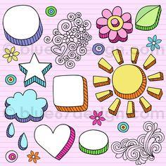 Hand-Drawn Notebook Doodle Frames and Design Elements- Vector Illustration by blue67design by blue67design, via Flickr