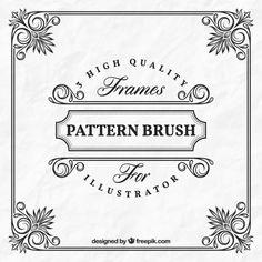 Frame decorativo no estilo do vintage Vetor grátis Caligraphy, Logos, Frame, Pattern, Vintage, Design, Vectors, Log Projects, Style