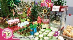 Masha y el Oso cumpleaños mesa dulce Lesnuzparty - Masha and the bear party themed