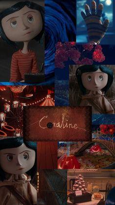 Coraline Movie, Coraline Art, Coraline Jones, Halloween Wallpaper Iphone, Wallpaper Iphone Disney, Wallpaper Series, Coraline Aesthetic, Disney Collage, Tim Burton Art