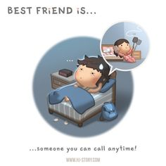 Part 7/10 of the best friend mini-series  Best friend is someone that you can call… ANYTIME!