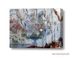 """blue mountains"" art canvas"
