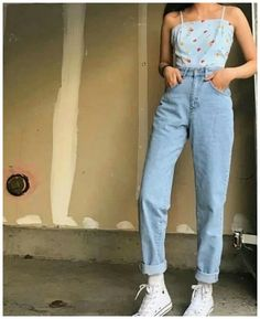 Pin of Pauline Garcia on outfits in 2018 - fits your own style instead of . - Pin of Pauline Garcia on outfits in 2018 – Fits your own style instead of hours of preparation Fi - Mode Outfits, Retro Outfits, Jean Outfits, Trendy Outfits, Summer Outfits, 90s Style Outfits, Vintage Hipster Outfits, Summertime Outfits, School Outfits